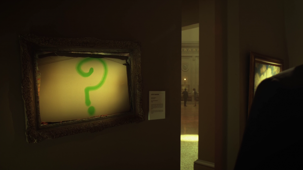 The Riddler's first public appearance